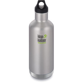 Klean Kanteen Classic Vacuum Insulated Drinkfles Loop Cap 946ml zilver